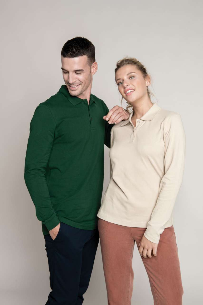 Ladies 39 Long Sleeve Pique Polo Shirt